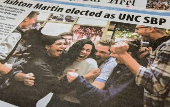 Ashton Martin '20, as shown on the front page of the Daily Tar Heel on February 13, 2019