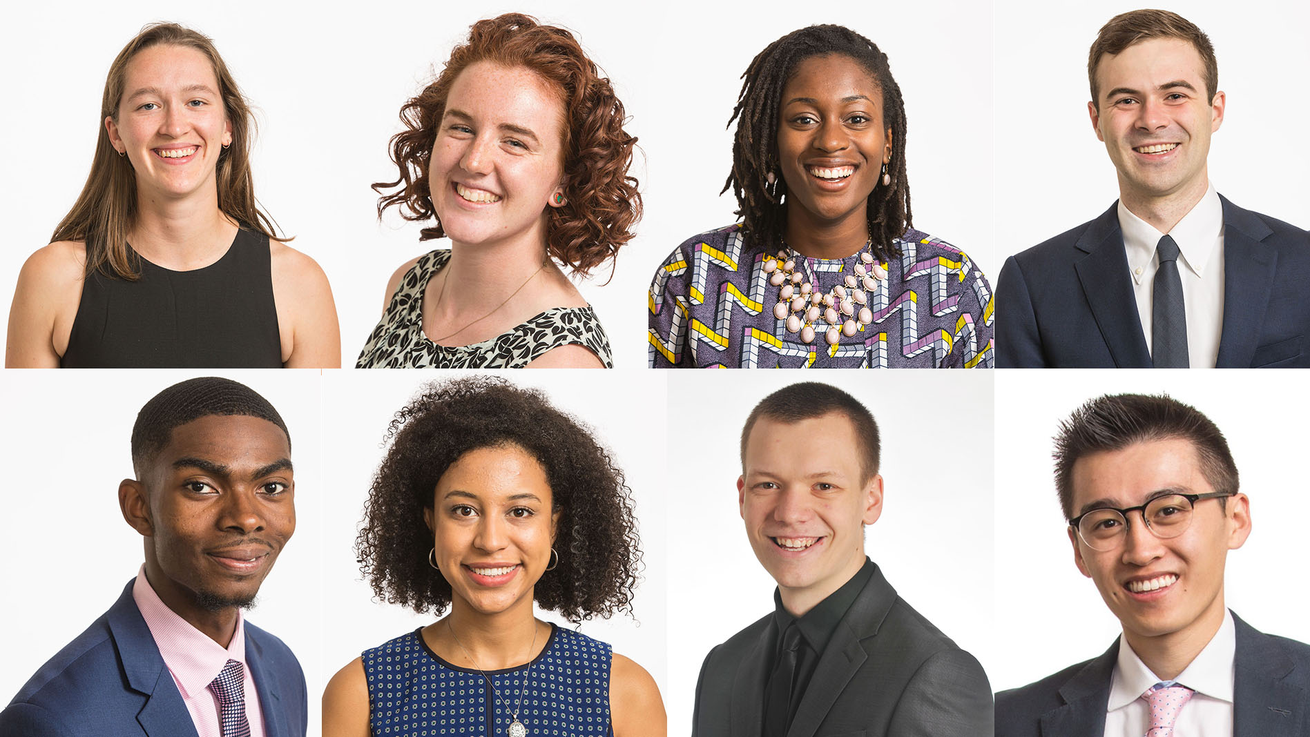 Headshots of 2020 Chancellor's Awards recipients