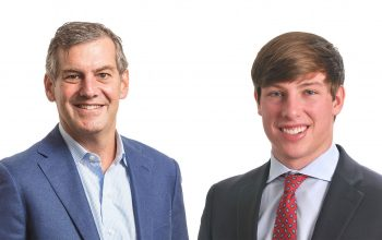 Head shots of Phil Berney '86 and Jack Dinges '21