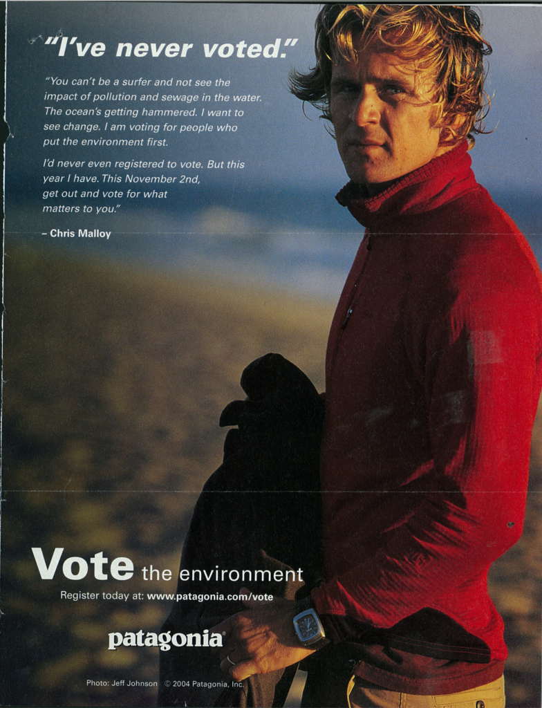 Screenshot of an environmental ad.