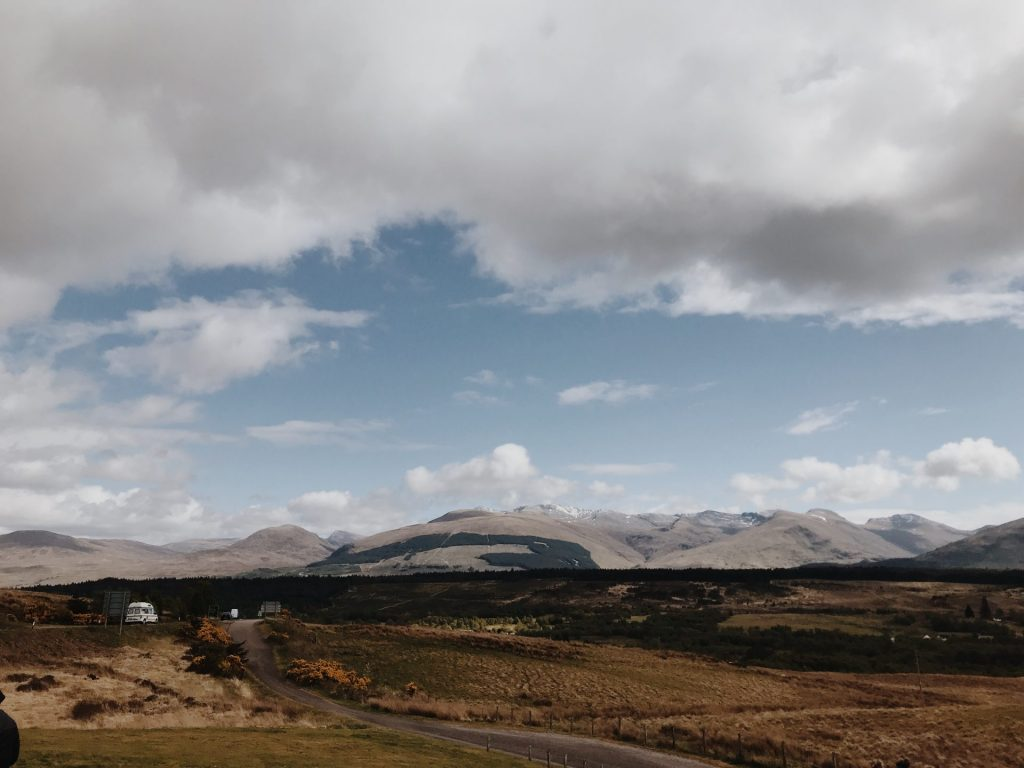 Landscape view of the Scottish Highlands