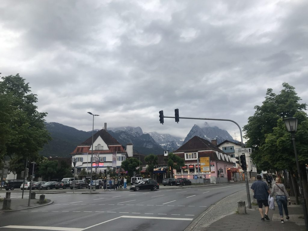 View of a small mountain town outside of Munich, Germany.