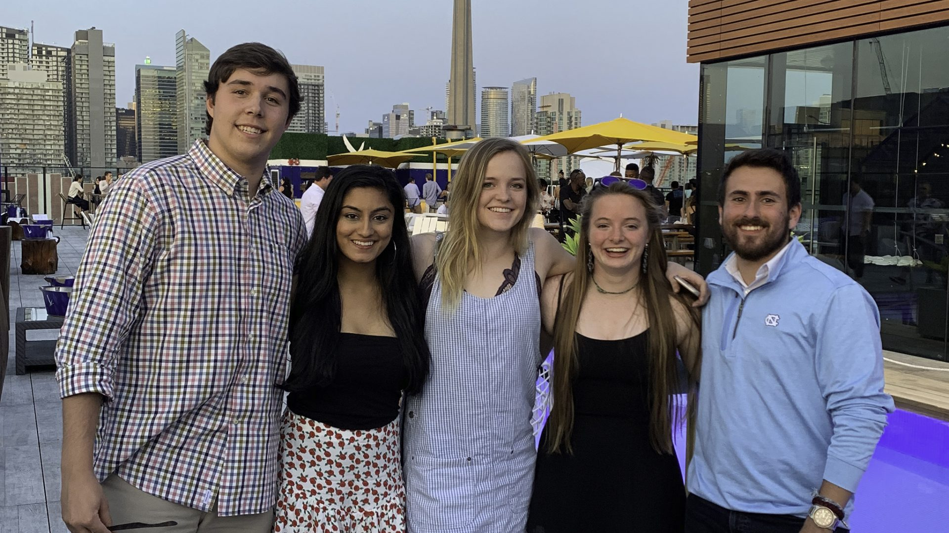 Group photo of Bobby McQueen, Jaya Mishra, Maggie Helmke, Megan Lienau, and Alex Mazer.