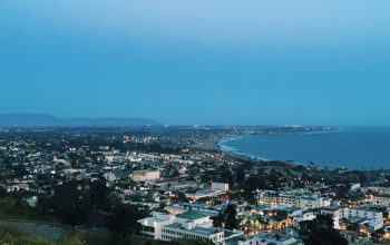 Landscape view of the city of Ventura, California.