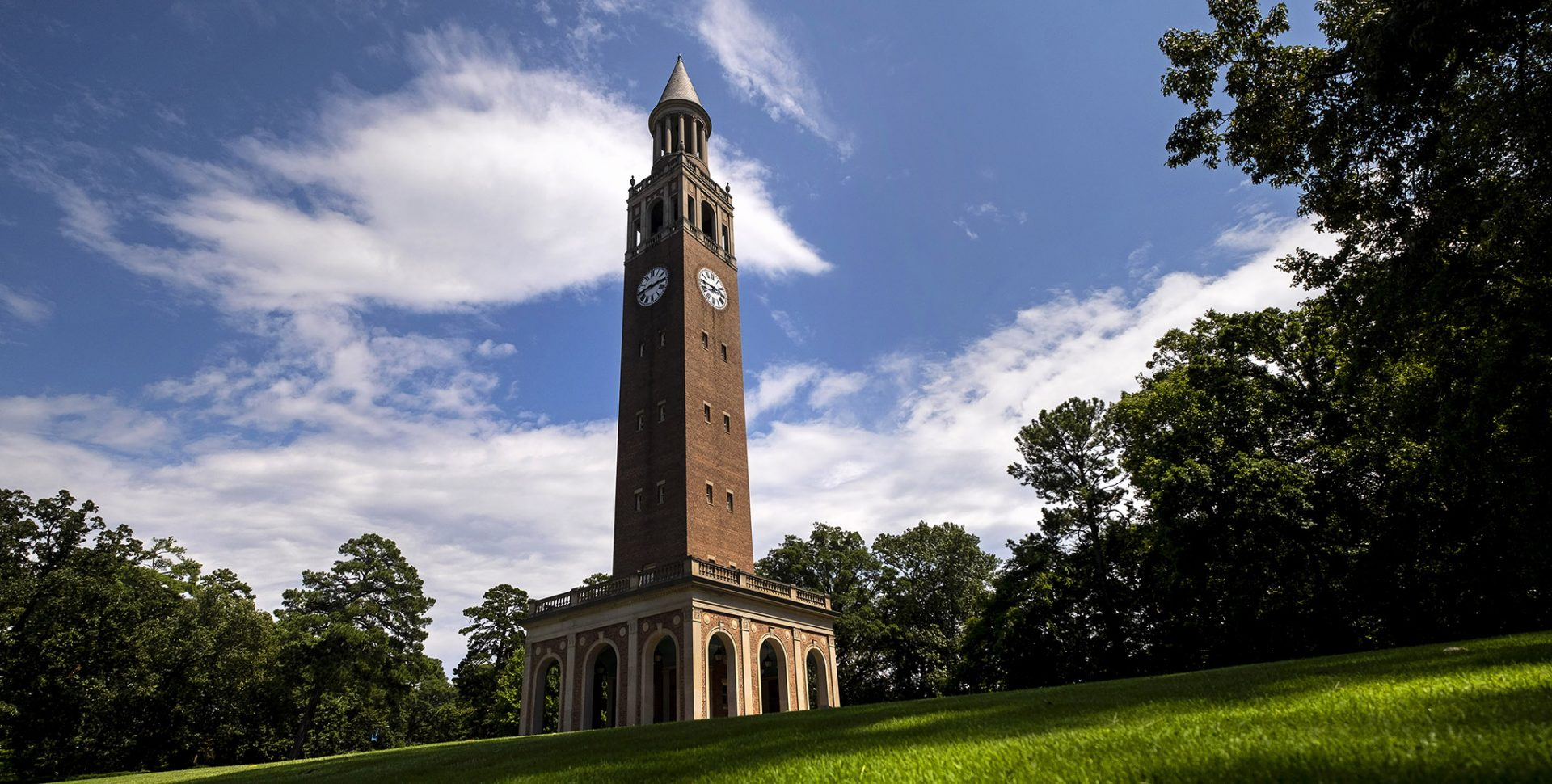 Morehead-Patterson Bell Tower on the campus of the University of North Carolina at Chapel Hill.
