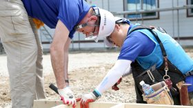 Jonathan Reckford '84 on a build site in South Korea