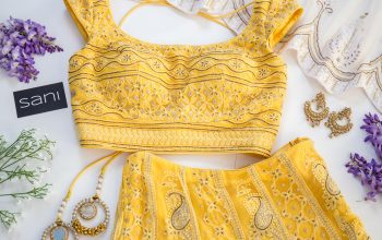 Close-up of South Asian-inspired formalwear pieces and accessories.